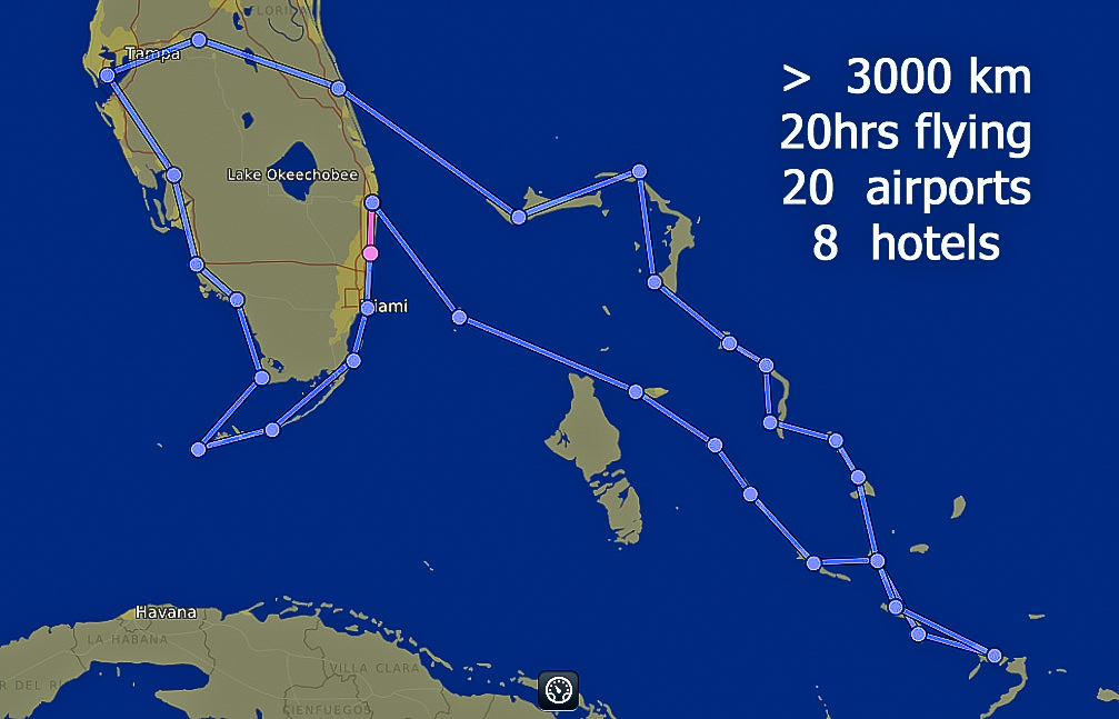 Florida & The Bahamas from sea level to 1000ft
