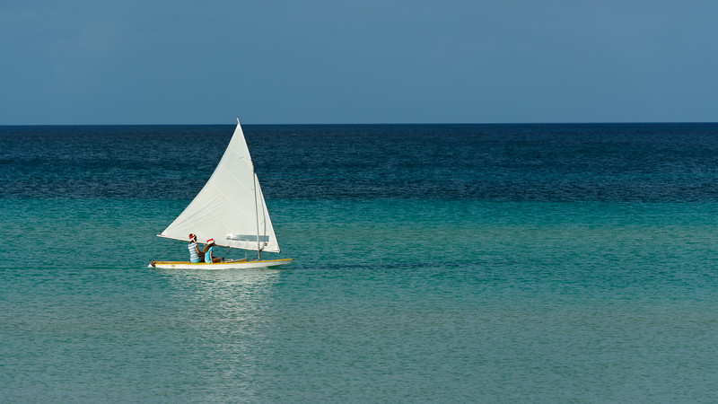 Sailing at Cocodimama, Governors Harbour, Bahamas
