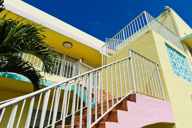 Pastel colored house at Surfside-Miami