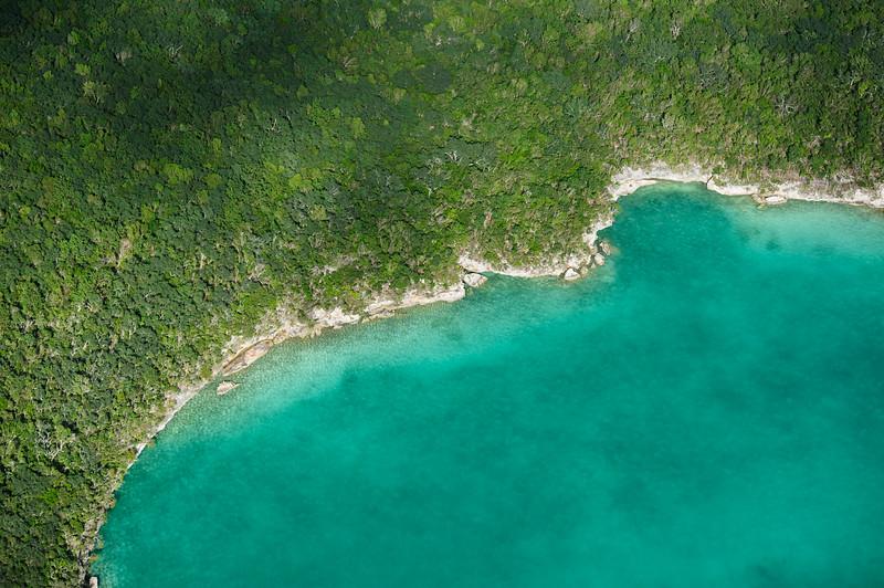 Rugid coasline over Eleuthera, Bahamas