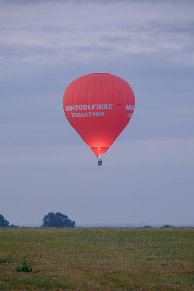 Sunrise balloon launch at Saumur airport