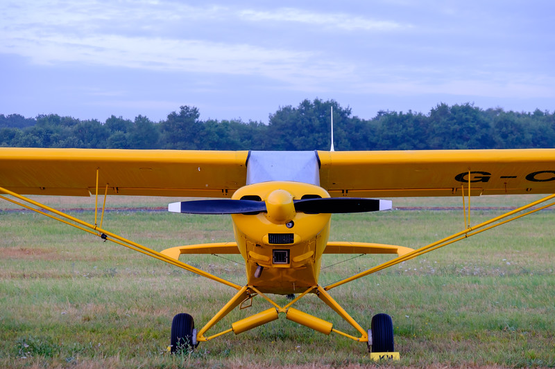 Morning dew Piper Cub at Saumur