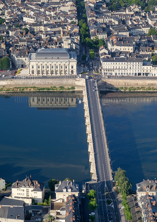 Bridge over the river Loire in Saumur