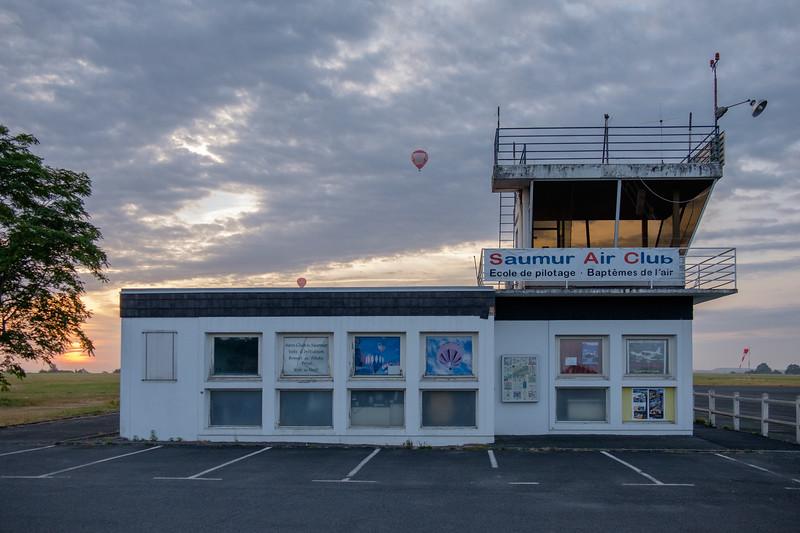 Sunrise balloon launch at Saumur airport