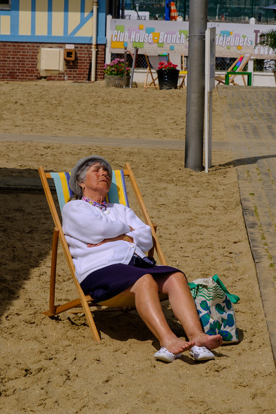 Taking a nap in Trouville
