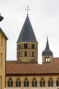 The tower over the south transept, all that remains of Cluny Abbey following the decision taken during the French Revolution (1789) to turn it into a quarry and sell the stone. The revolutionaries also burned the archives and sacked the library. Once the biggest and, arguably, the most influential church in Christendom, the abbey was reduced to rubble 879 years after its foundation.