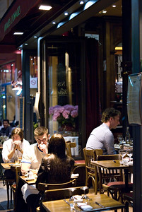 Dinner on the Champs Elysees Paris, France — May 2009