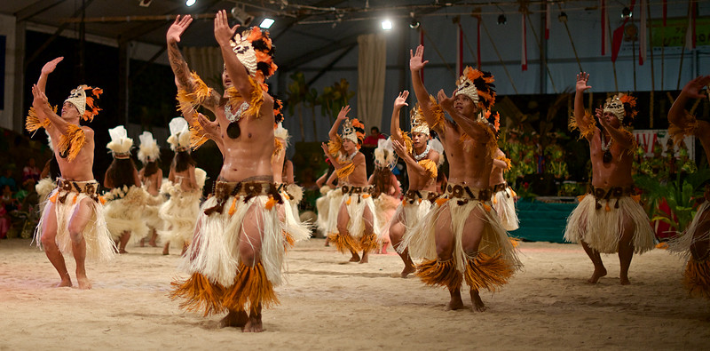 From the finals of a month-long local dance competition on the island of Raiatea.