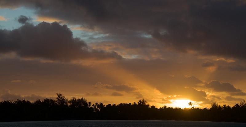 Polynesian sunrise...