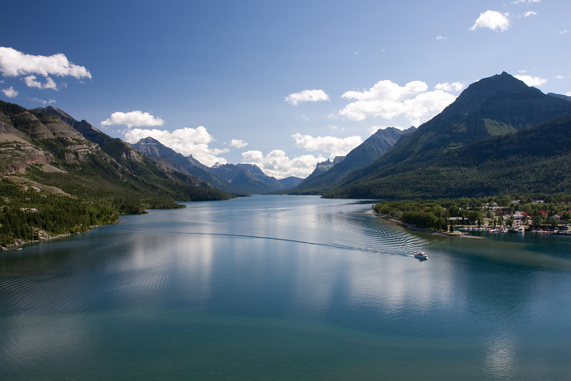 Glacier National Park, Montana & Waterton Lakes National Peace Park Alberta and British Columbia Canada.