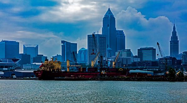 Cleveland; Ohio; Port of Cleveland; USA