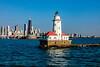 Chicago; Chicago Harbor Light; Chicago Skyline; Illinois; USA