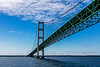 Lake Michigan; Mackinac Bridge; Michigan; USA