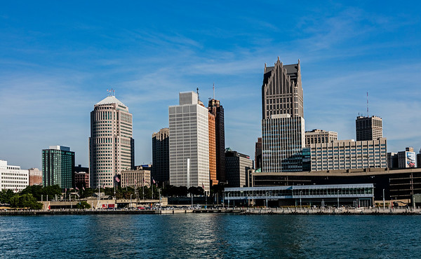 Detroit River; Michigan; USA