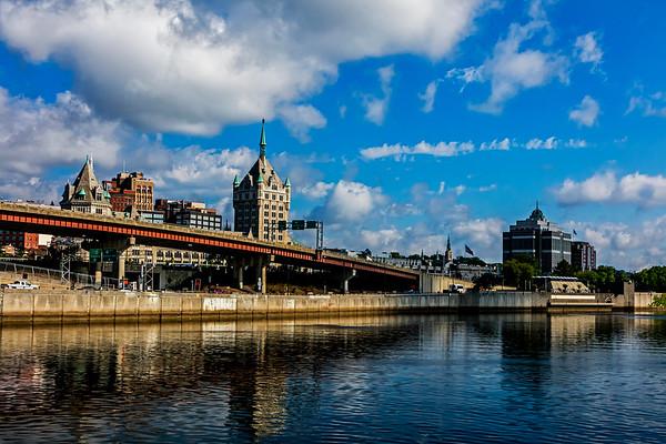 Albany; Hudson River; New York State; USA