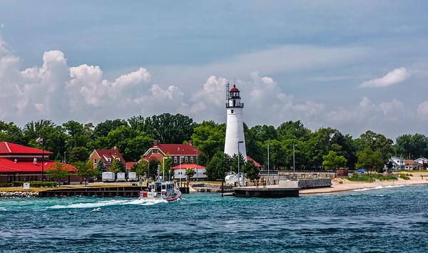 Michigan; Port Gratiot Lighthouse;  St. Clais Strate; USA