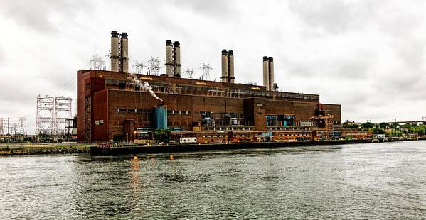 East River; New York; New York City; power plant; USA