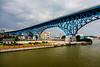 Cleveland; Cuyahoga River; Ohio; USA