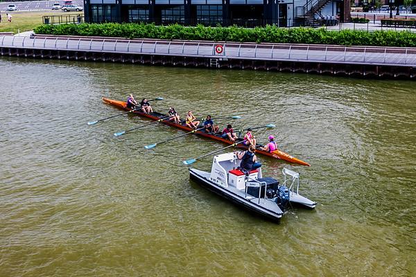 Cleveland; Cuyahoga River; Ohio; USA
