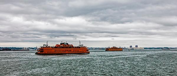 Hudson River; Manhattan; New York; New York City; staue of Liberty; USA