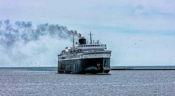 Lake Michigan; Manitowoc; The Steam Ferry Bager; USA; Wisconsin
