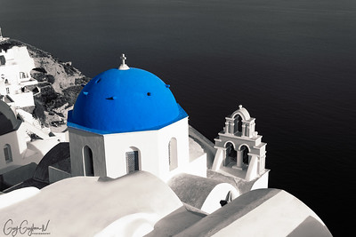 Blue and White Church