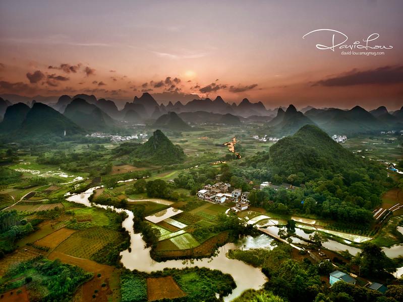 Sunset at Yangshou