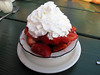 We saved room for dessert!  Under all those fresh local strawberries is a delicious shortcake/bisquit.