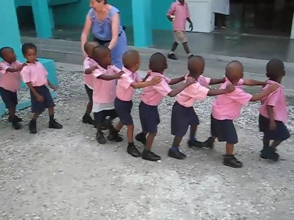 At the school founded by Leon De Orleans and His wife Jacky, Haitian ministers, in Citi Soleil in Port au Prince.