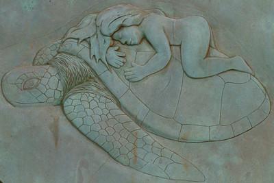 Green Sea Turtle Image on Sign IMG_0451