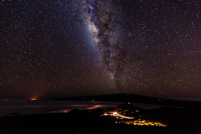 milky way by mauna kea