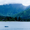 Mountain Views from Hanalei Bay Kauai Hawaii