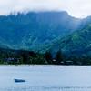 Mountain Views from Hanalei Bay Kauai Hawaii