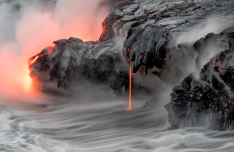 Lava flow at Kamokuna from Kīlauea Volcano