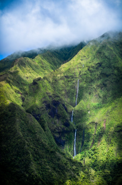 Napali Coast Kauai Waterfalls from Wings Over Kauai.