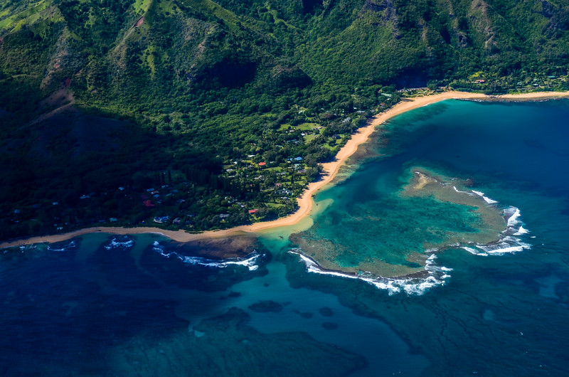 Kauai Beach from Wings Over Kauai