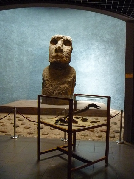 Sculpture from Easter Island that was taken to Spain but returned.