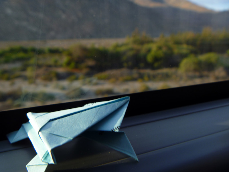 Making use of time ... folding origami frogs...