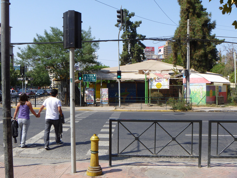 Traffic lights for both pedestrians and bicyclists!