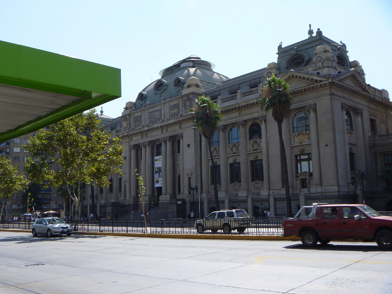 A better view of the national library on the other side of the Alameda