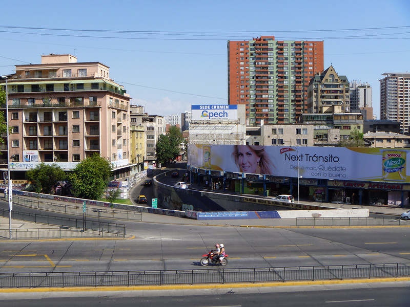 Looking across from Bateria Hidalgo - there is an artisan market below that giant billboard