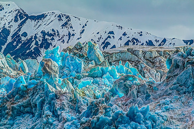 H.D.R. of Hubbard Glacier, Alaska