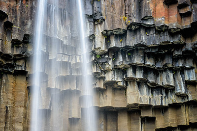 Basalt columns of Svartifoss in Skaftafell National Park
