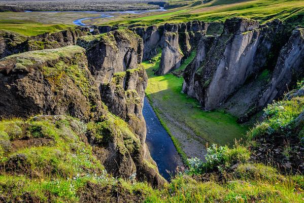 Fjadrargljufur gorge near Kirkjubæjarklaustur, southern Iceland
