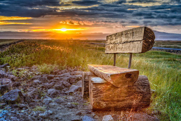 Come and sit on my bench, South Iceland