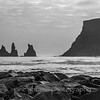 Vik, Iceland 466 southern most town in Iceland.<br />  Folklore tells it that this basalt rock formations depict a troll pulling to shore a three masted ship