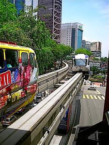 the monorail at Raja Chulan Station in Kuala Lumpur