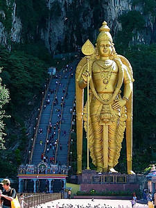 entrance into Batu Caves, just outside of Kuala Lumpur