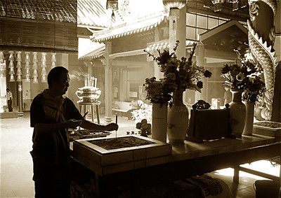 in a temple in Chinatown, Kuala Lumpur
