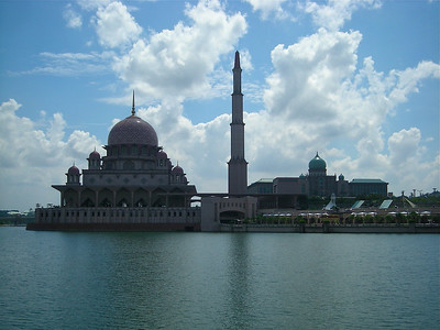 Putra Mosque, in the newly developed city of Putrajaya